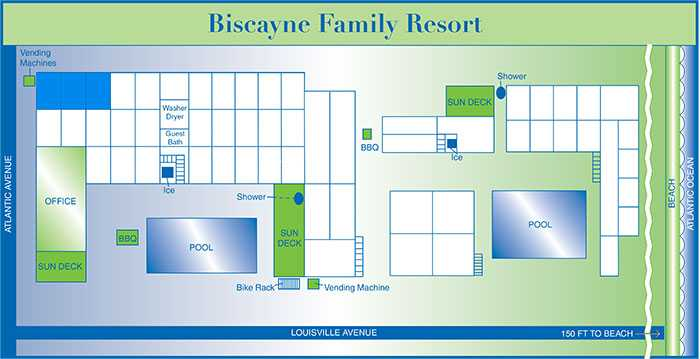 Biscayne rooms map